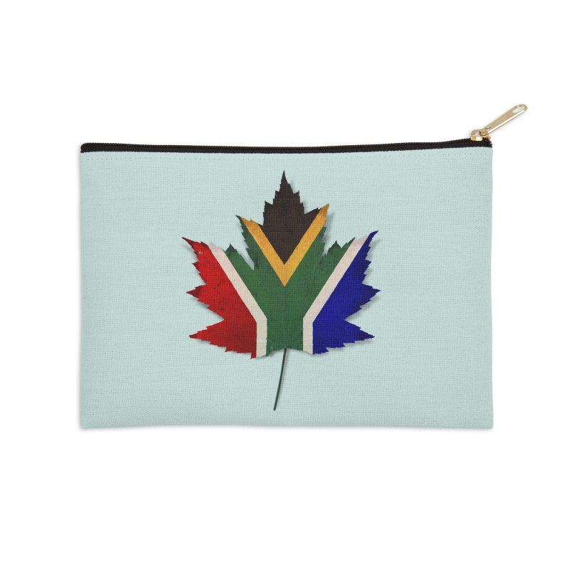South Africa Maple Accessories Zip Pouch by Hadeda Creative's Artist Shop