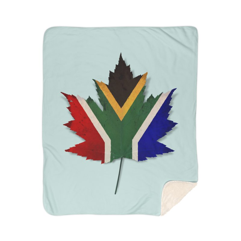 South Africa Maple Home Sherpa Blanket Blanket by Hadeda Creative's Artist Shop