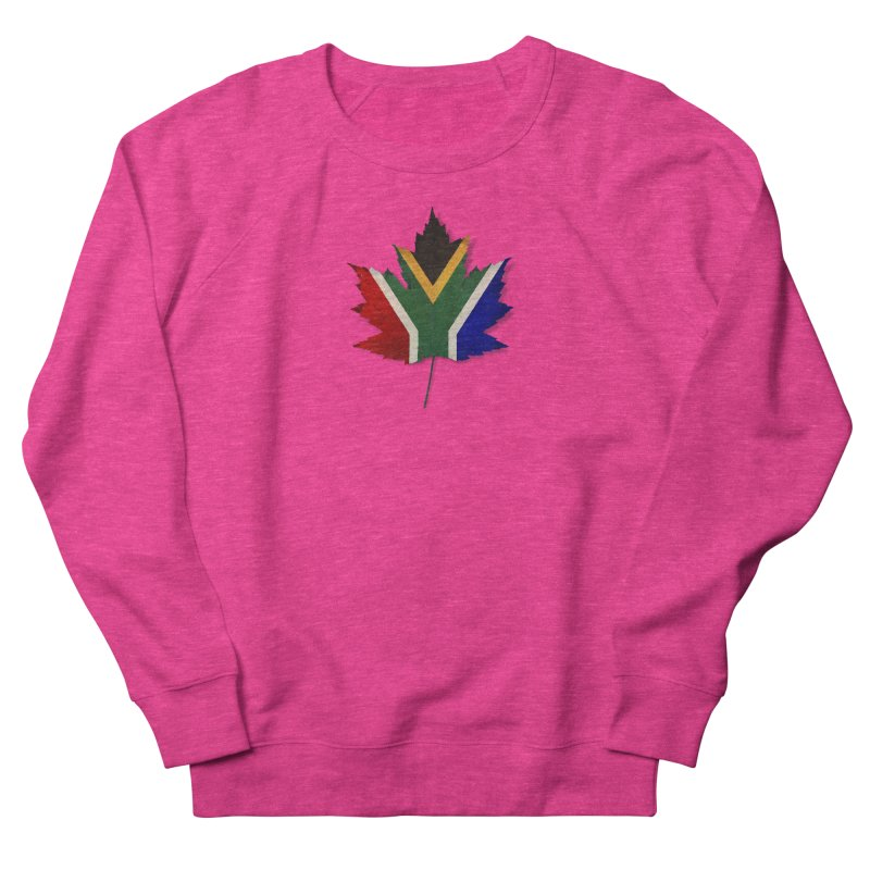 South Africa Maple Women's French Terry Sweatshirt by Hadeda Creative's Artist Shop