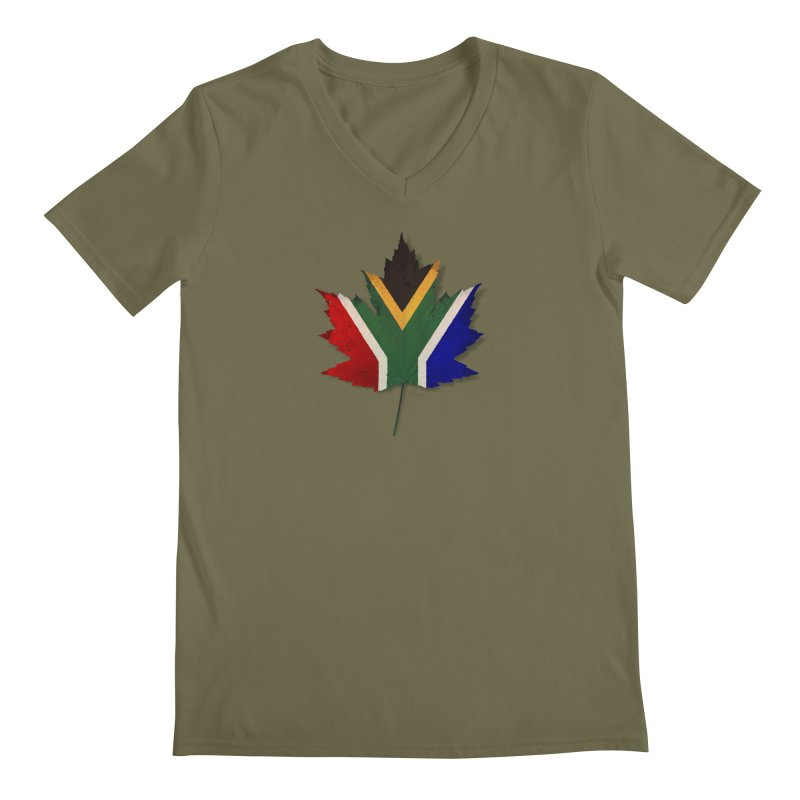 South Africa Maple Men's Regular V-Neck by Hadeda Creative's Artist Shop