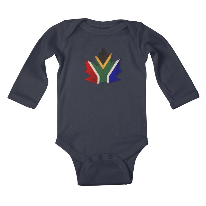 South Africa Maple Kids Baby Longsleeve Bodysuit by Hadeda Creative's Artist Shop