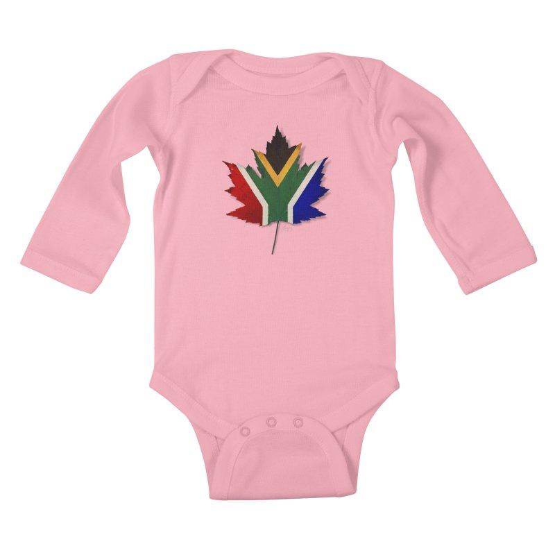 South Africa Maple Kids Baby Longsleeve Bodysuit by Hadeda Creative's Artist Shop