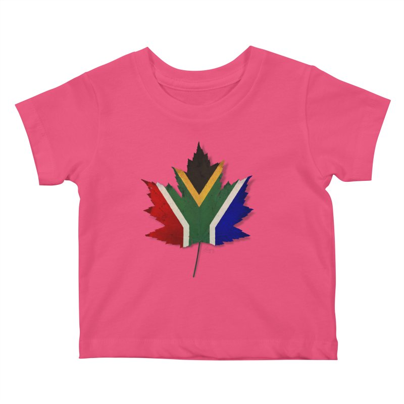 South Africa Maple Kids Baby T-Shirt by Hadeda Creative's Artist Shop
