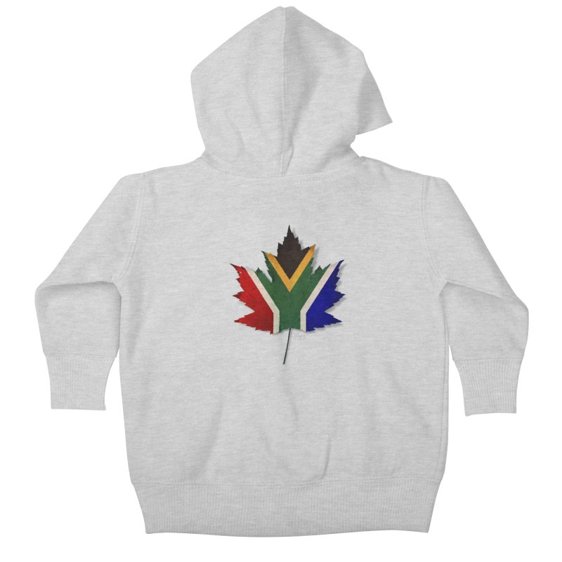 South Africa Maple Kids Baby Zip-Up Hoody by Hadeda Creative's Artist Shop