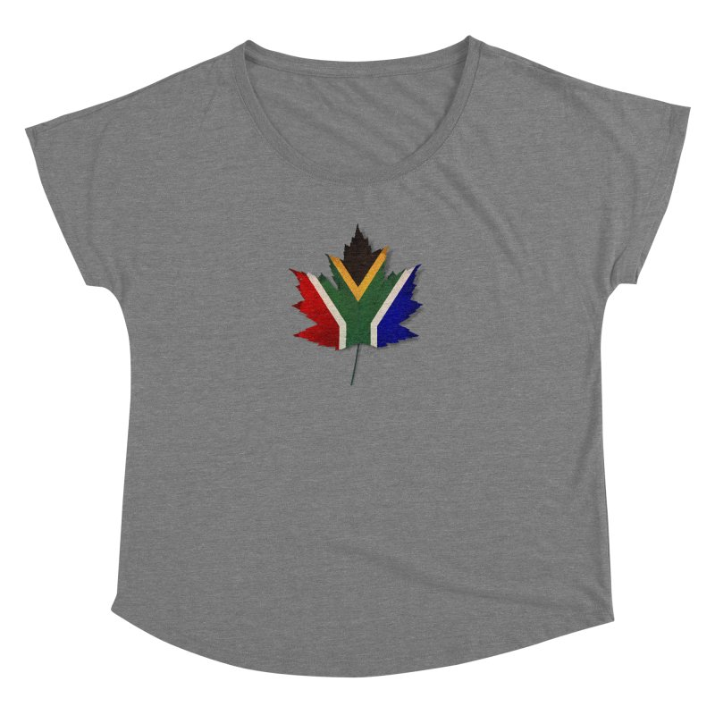 South Africa Maple Women's Dolman Scoop Neck by Hadeda Creative's Artist Shop