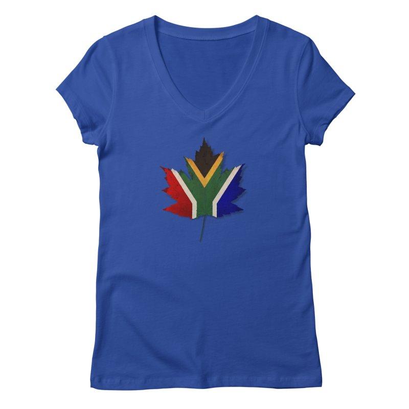 South Africa Maple Women's Regular V-Neck by Hadeda Creative's Artist Shop