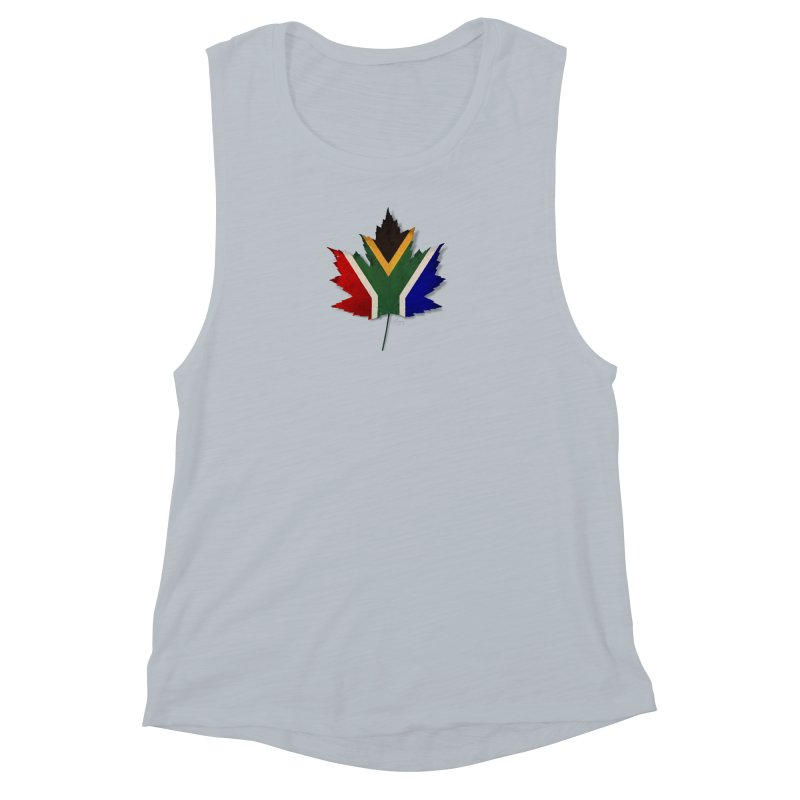 South Africa Maple Women's Muscle Tank by Hadeda Creative's Artist Shop