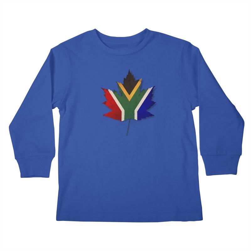 South Africa Maple Kids Longsleeve T-Shirt by Hadeda Creative's Artist Shop