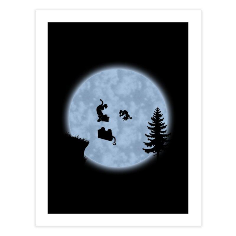 Calvin & Hobbes / E.T. Crossover Home Fine Art Print by Hadeda Creative's Artist Shop