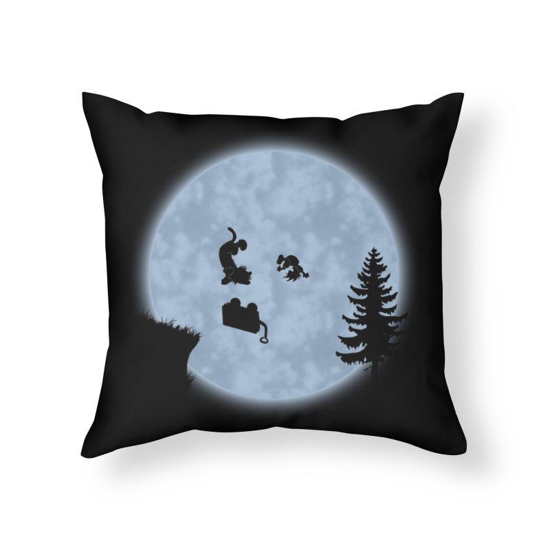 Calvin & Hobbes / E.T. Crossover Home Throw Pillow by Hadeda Creative's Artist Shop