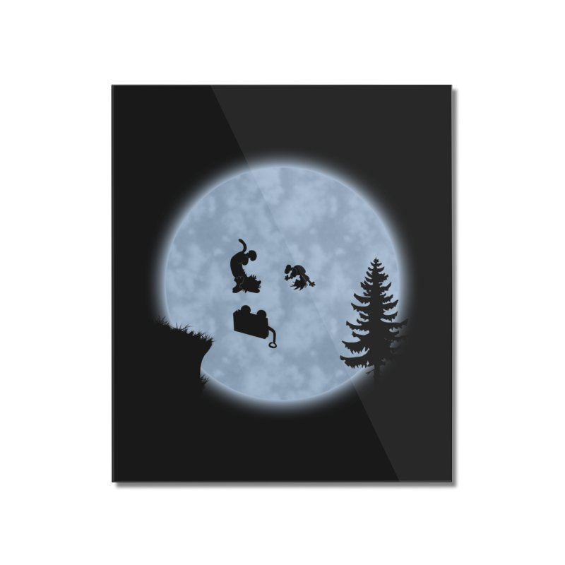 Calvin & Hobbes / E.T. Crossover Home Mounted Acrylic Print by Hadeda Creative's Artist Shop