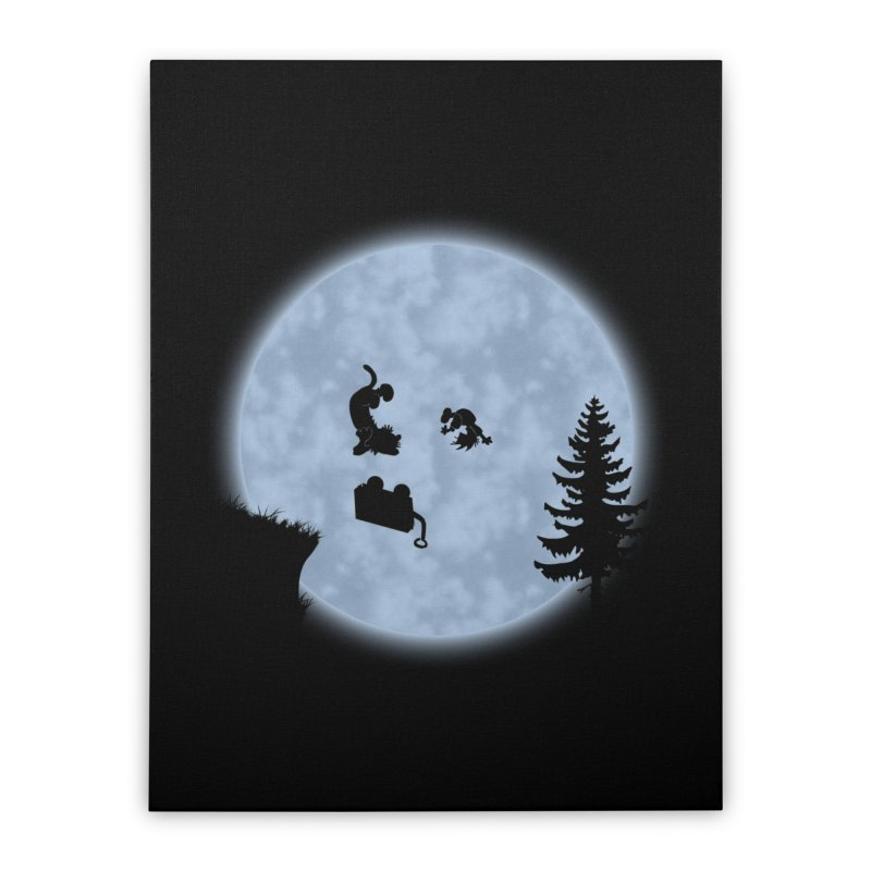 Calvin & Hobbes / E.T. Crossover Home Stretched Canvas by Hadeda Creative's Artist Shop