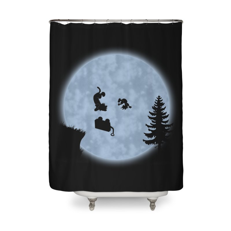 Calvin & Hobbes / E.T. Crossover Home Shower Curtain by Hadeda Creative's Artist Shop