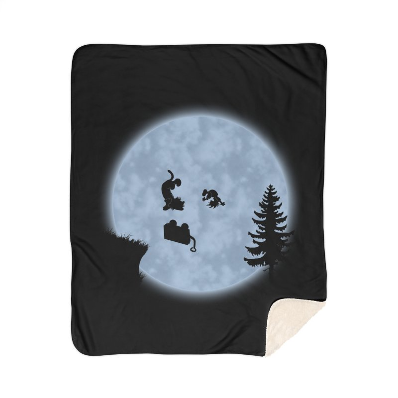 Calvin & Hobbes / E.T. Crossover Home Sherpa Blanket Blanket by Hadeda Creative's Artist Shop