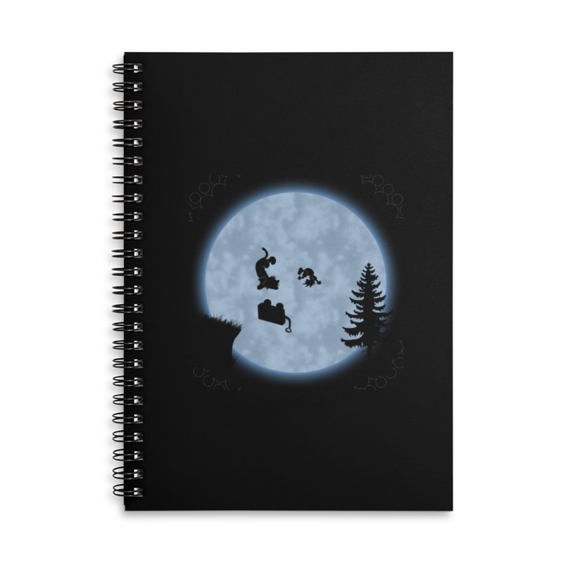 Calvin & Hobbes / E.T. Crossover Accessories Lined Spiral Notebook by Hadeda Creative's Artist Shop