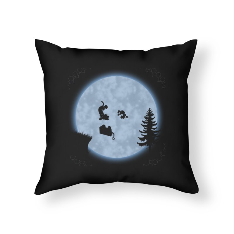 Calvin & Hobbes / E.T. Crossover Home Throw Pillow by Hadeda Creative's Artist Shop