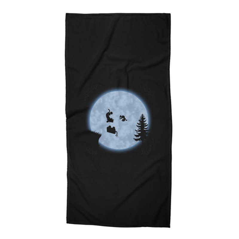 Calvin & Hobbes / E.T. Crossover Accessories Beach Towel by Hadeda Creative's Artist Shop