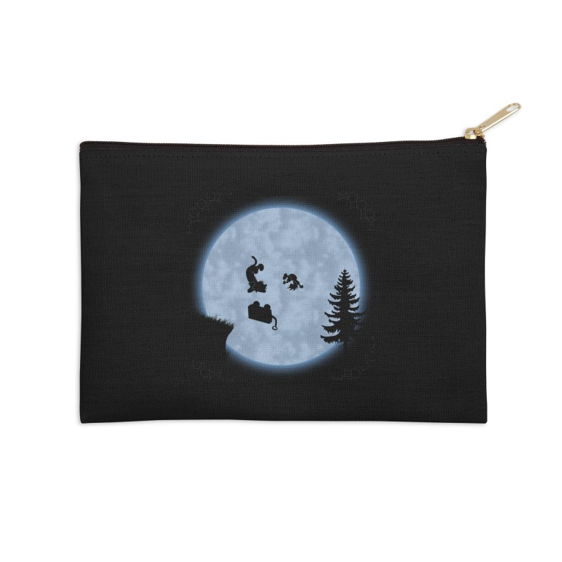 Calvin & Hobbes / E.T. Crossover Accessories Zip Pouch by Hadeda Creative's Artist Shop