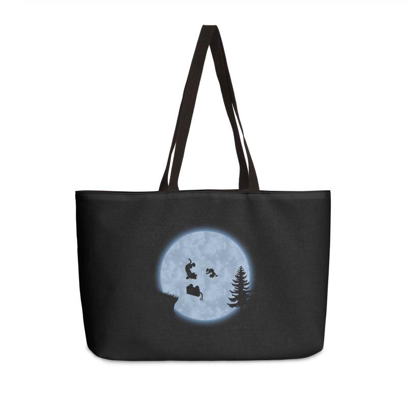 Calvin & Hobbes / E.T. Crossover Accessories Weekender Bag Bag by Hadeda Creative's Artist Shop