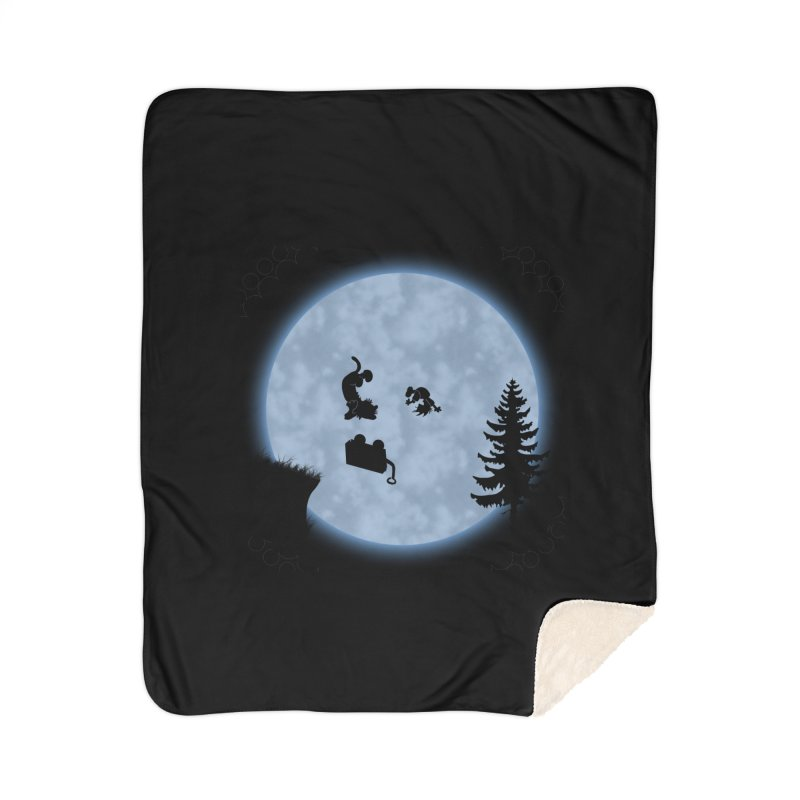 Calvin & Hobbes / E.T. Crossover Home Sherpa Blanket Blanket by Hadeda Creative's Artist Shop