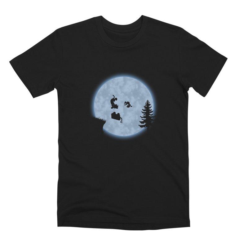 Calvin & Hobbes / E.T. Crossover Men's Premium T-Shirt by Hadeda Creative's Artist Shop