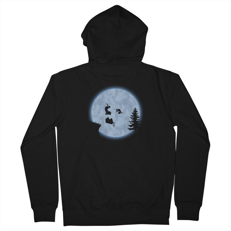 Calvin & Hobbes / E.T. Crossover Men's French Terry Zip-Up Hoody by Hadeda Creative's Artist Shop