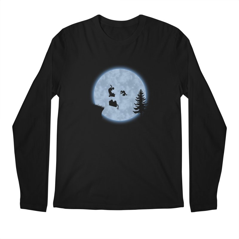 Calvin & Hobbes / E.T. Crossover Men's Regular Longsleeve T-Shirt by Hadeda Creative's Artist Shop