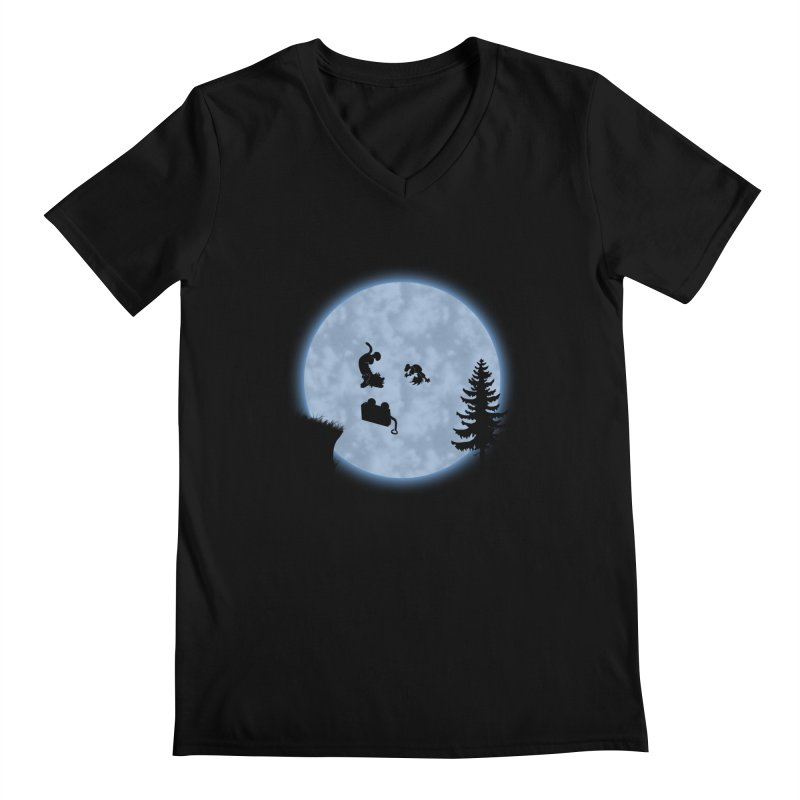 Calvin & Hobbes / E.T. Crossover Men's Regular V-Neck by Hadeda Creative's Artist Shop