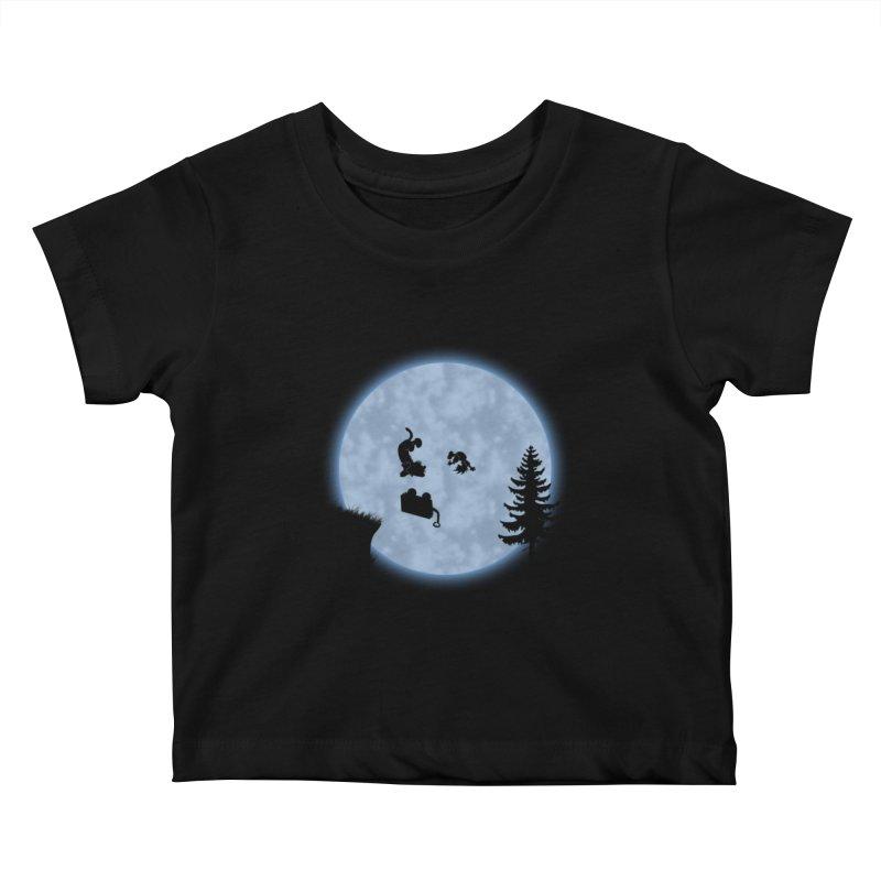 Calvin & Hobbes / E.T. Crossover Kids Baby T-Shirt by Hadeda Creative's Artist Shop