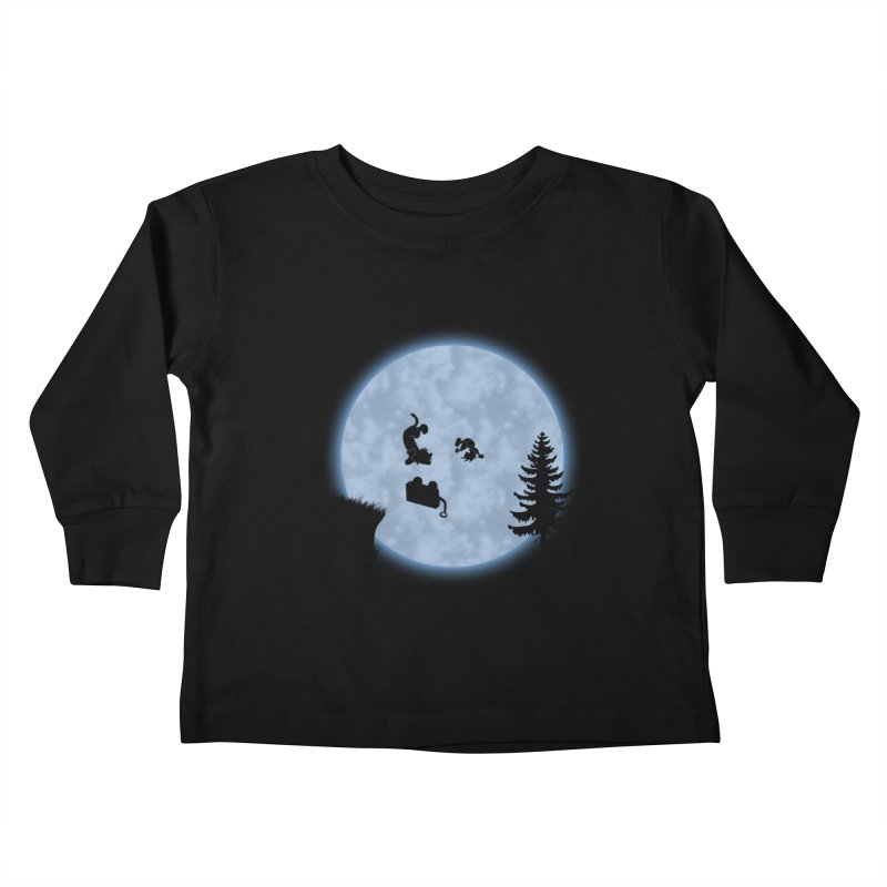 Calvin & Hobbes / E.T. Crossover Kids Toddler Longsleeve T-Shirt by Hadeda Creative's Artist Shop