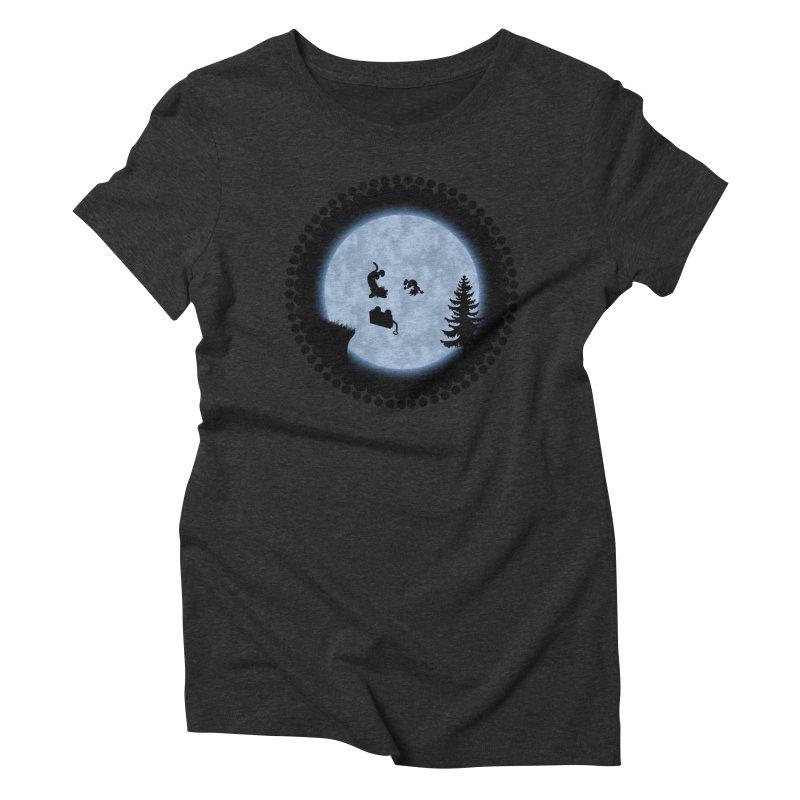 Calvin & Hobbes / E.T. Crossover Women's Triblend T-Shirt by Hadeda Creative's Artist Shop