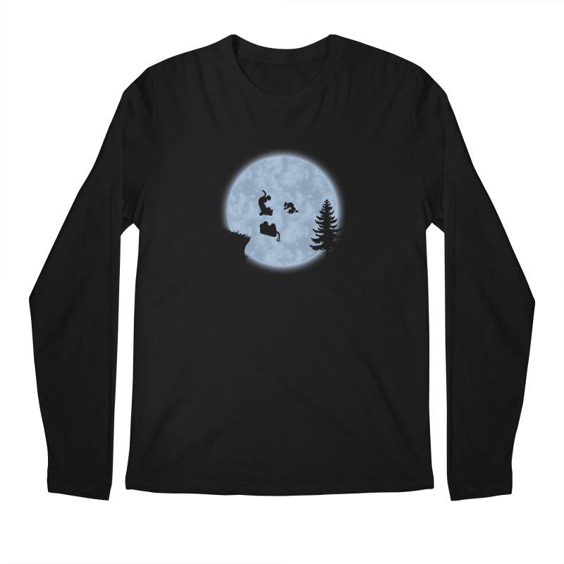 Calvin & Hobbes / E.T. Crossover Men's Longsleeve T-Shirt by Hadeda Creative's Artist Shop