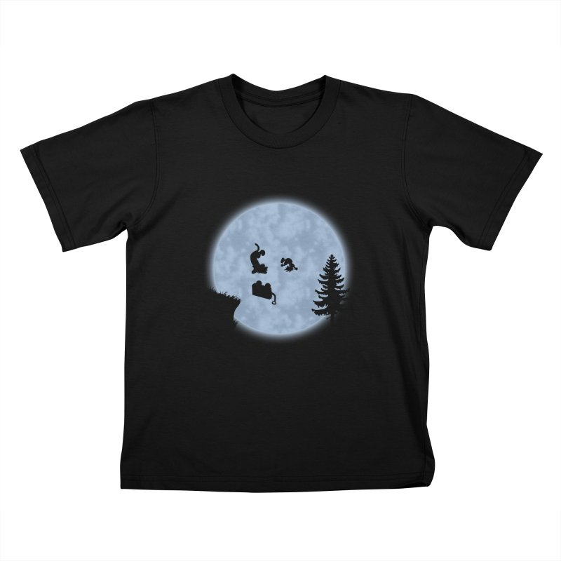 Calvin & Hobbes / E.T. Crossover Kids T-Shirt by Hadeda Creative's Artist Shop