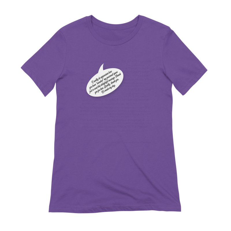 Thank you for reading this. Really. Thank you. Women's Extra Soft T-Shirt by Hadeda Creative's Artist Shop