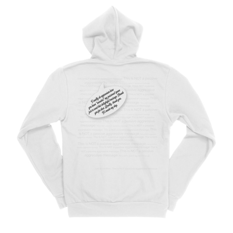 Thank you for reading this. Really. Thank you. Women's Sponge Fleece Zip-Up Hoody by Hadeda Creative's Artist Shop