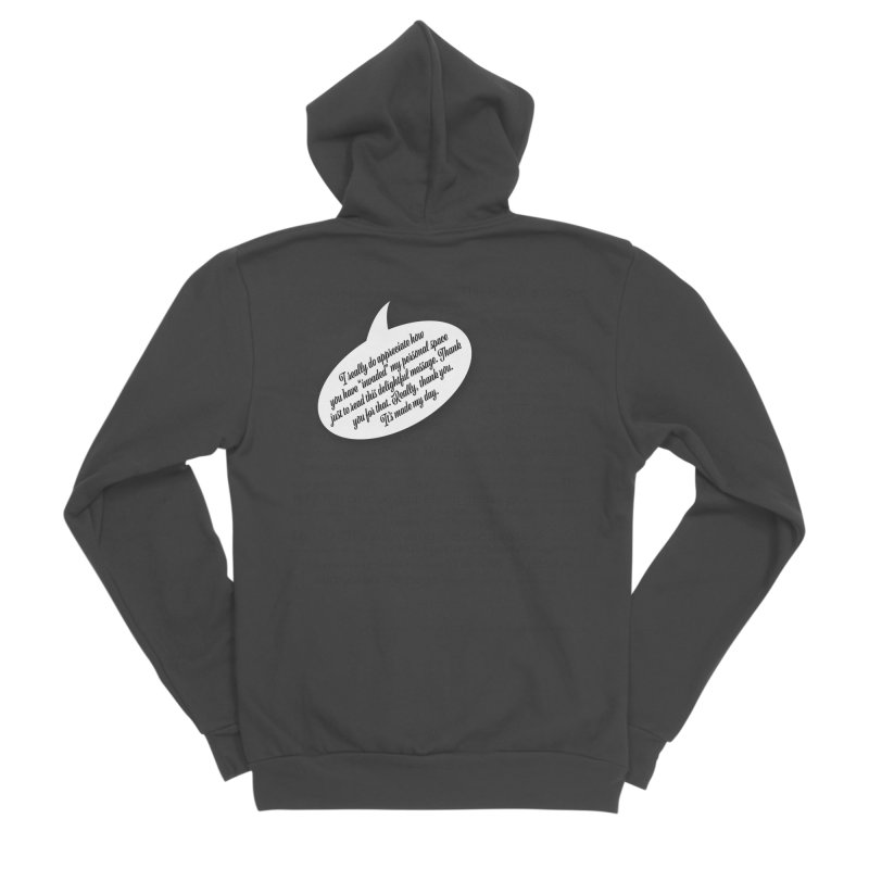 Thank you for reading this. Really. Thank you. Men's Sponge Fleece Zip-Up Hoody by Hadeda Creative's Artist Shop