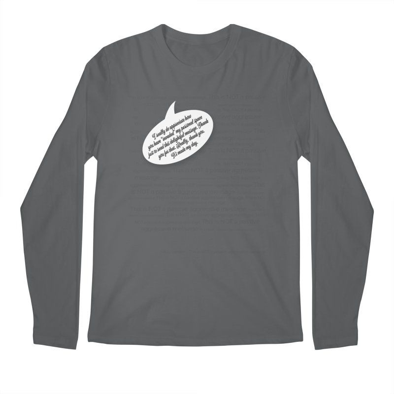 Thank you for reading this. Really. Thank you. Men's Longsleeve T-Shirt by Hadeda Creative's Artist Shop