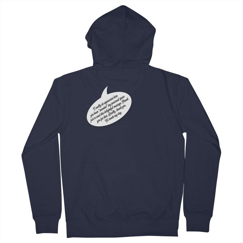 Thank you for reading this. Really. Thank you. Men's French Terry Zip-Up Hoody by Hadeda Creative's Artist Shop