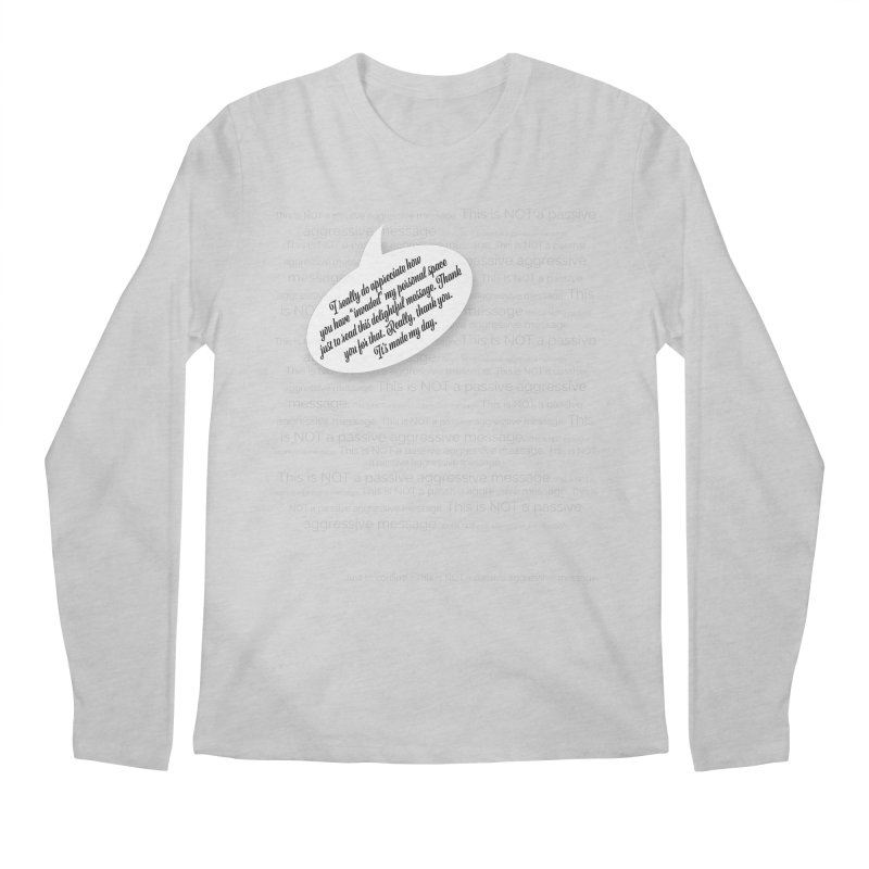 Thank you for reading this. Really. Thank you. Men's Regular Longsleeve T-Shirt by Hadeda Creative's Artist Shop