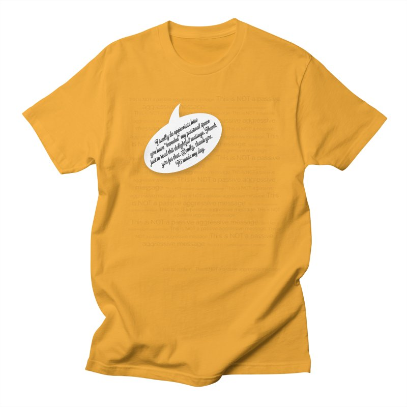 Thank you for reading this. Really. Thank you. Men's Regular T-Shirt by Hadeda Creative's Artist Shop