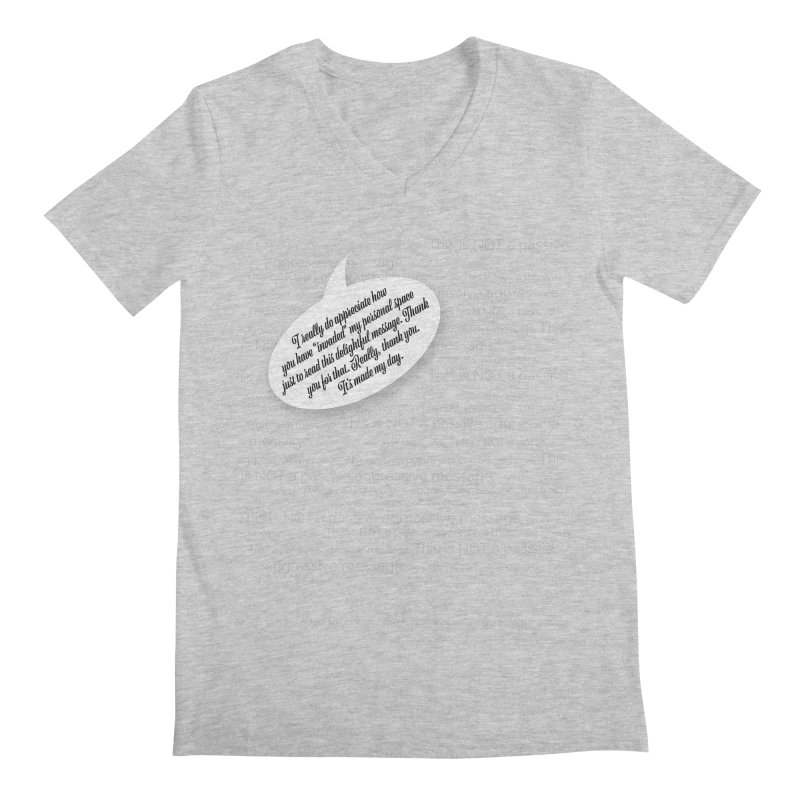 Thank you for reading this. Really. Thank you. Men's Regular V-Neck by Hadeda Creative's Artist Shop