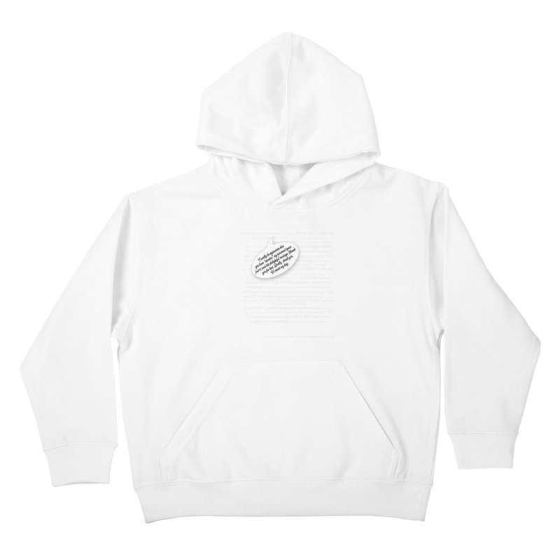 Thank you for reading this. Really. Thank you. Kids Pullover Hoody by Hadeda Creative's Artist Shop