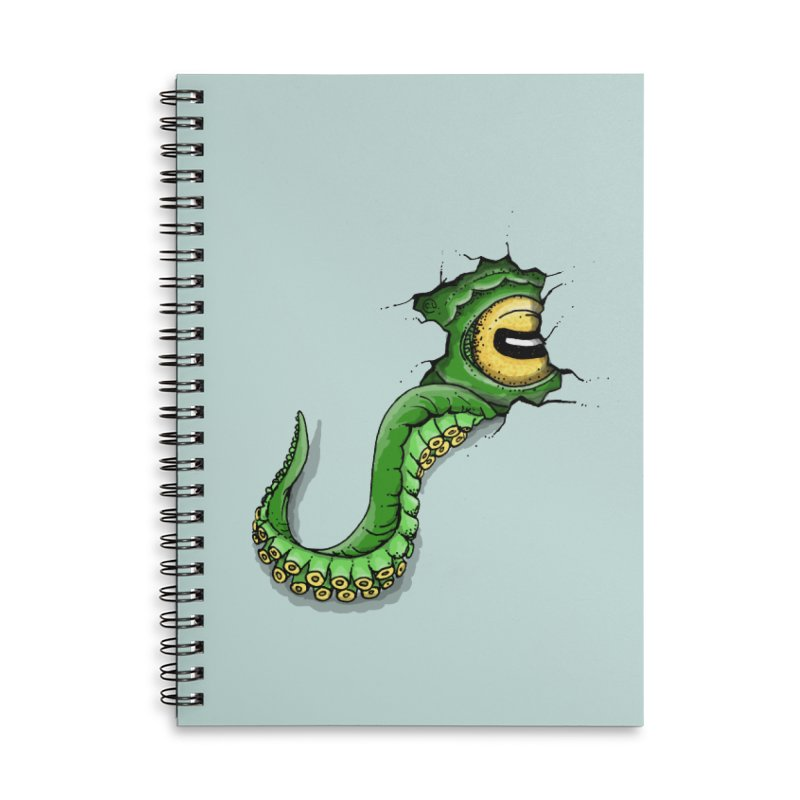 Octopus In Need Of A Hug Accessories Lined Spiral Notebook by Hadeda Creative's Artist Shop