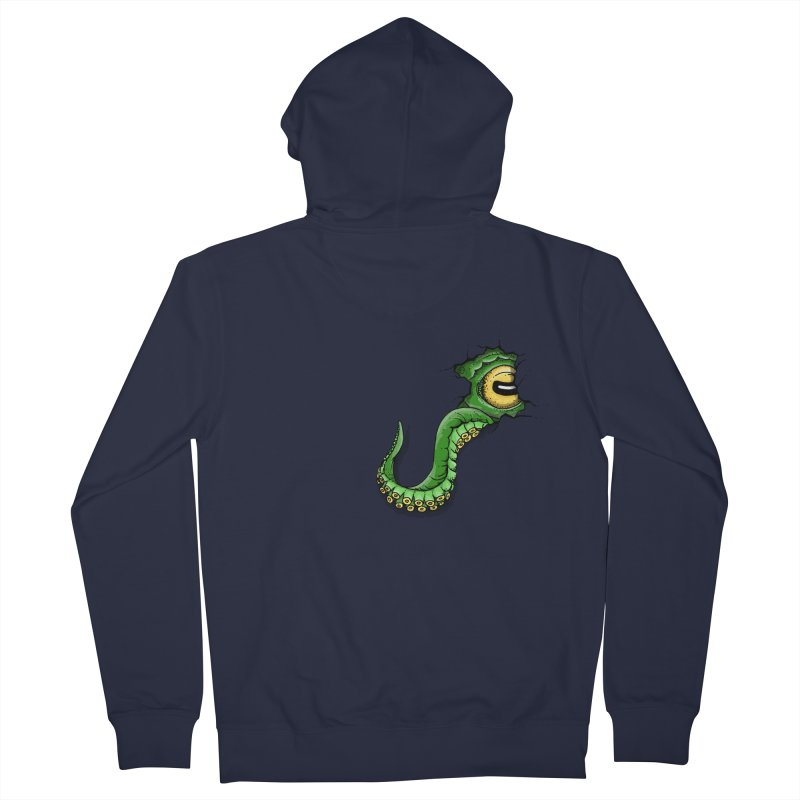 Octopus In Need Of A Hug Men's French Terry Zip-Up Hoody by Hadeda Creative's Artist Shop