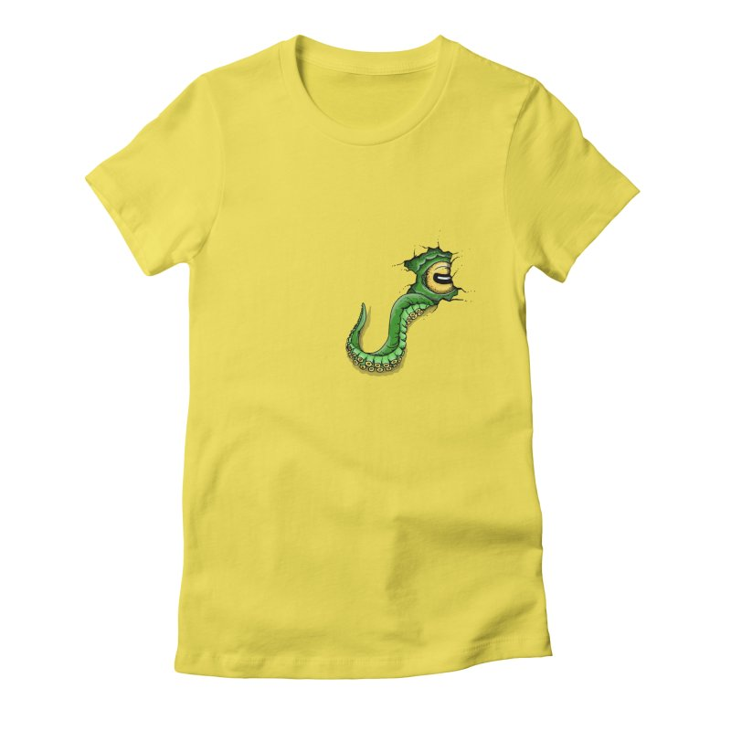 Octopus In Need Of A Hug Women's Fitted T-Shirt by Hadeda Creative's Artist Shop