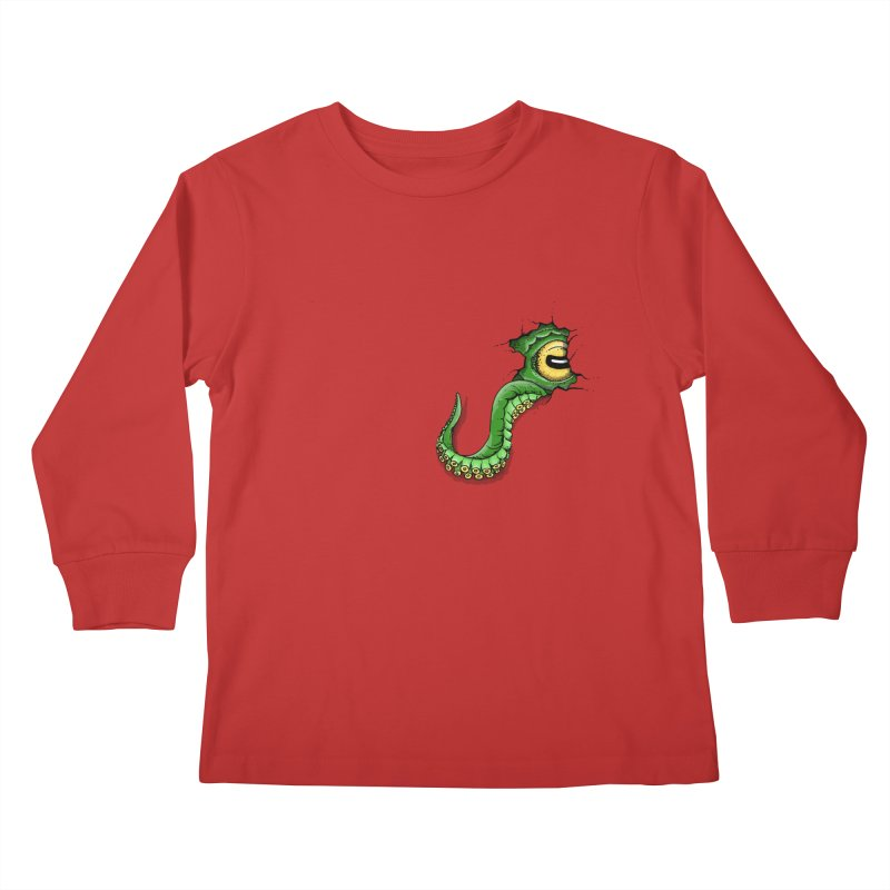 Octopus In Need Of A Hug Kids Longsleeve T-Shirt by Hadeda Creative's Artist Shop