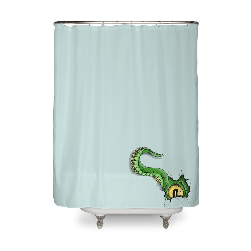 Octopus In Need Of A Hug Home Shower Curtain by Hadeda Creative's Artist Shop