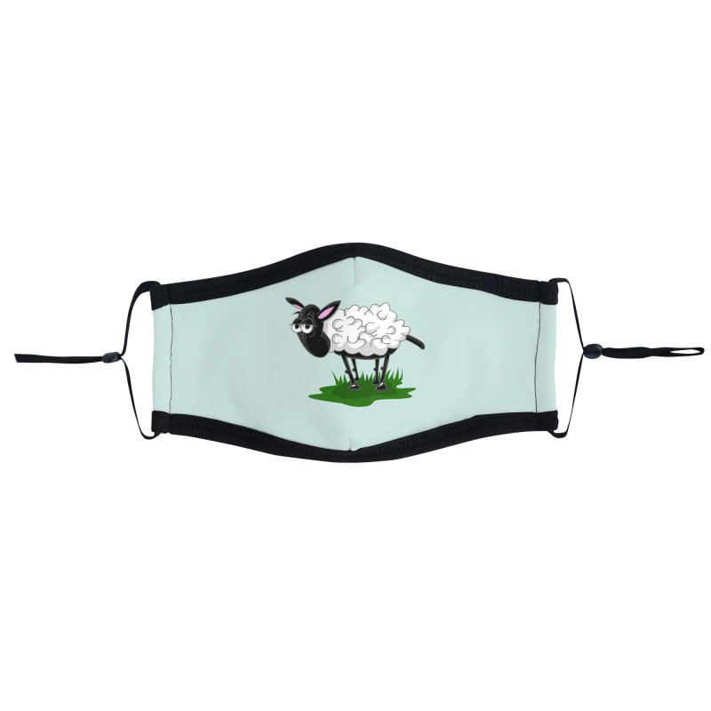 Shirby The Sheep Accessories Face Mask by Hadeda Creative's Artist Shop