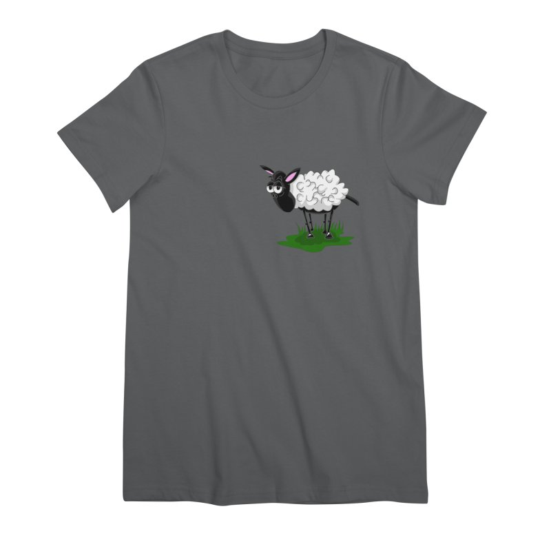 Shirby The Sheep Women's Premium T-Shirt by Hadeda Creative's Artist Shop