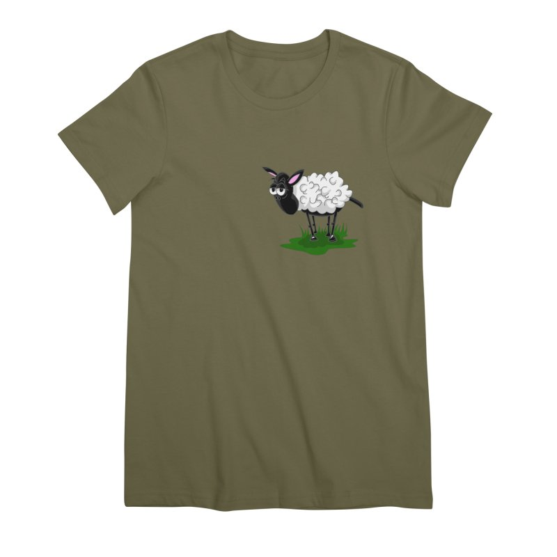 Shirby The Sheep Women's Premium T-Shirt by Hadeda Creative's Artist Shop